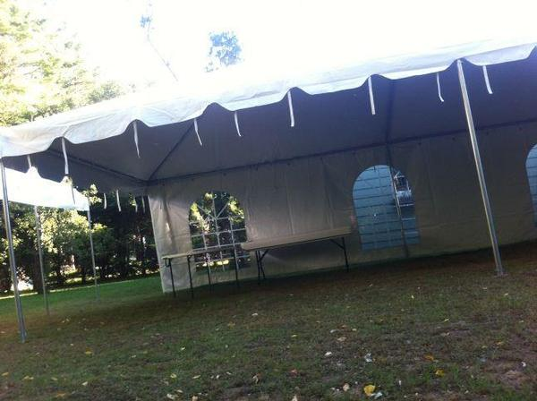 15 X 30 Frame Tent with window sides - TE Table and Chair Rentals