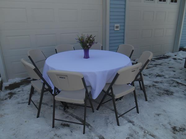 60 inch round table 60 inch round table seats 8 people   TE Table and Chair Rentals 60 inch round table