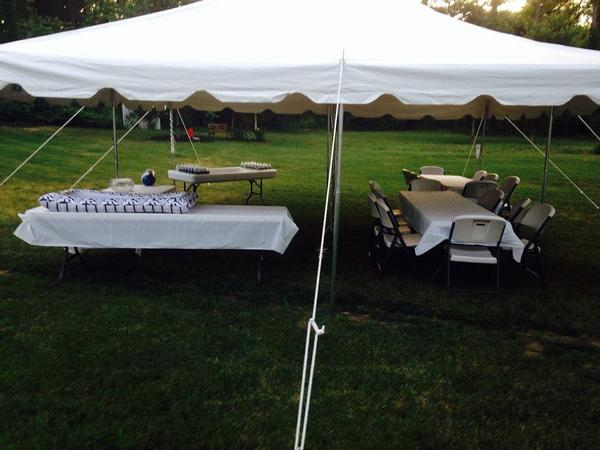 ... Table 20 X 20 Pole Tent ...